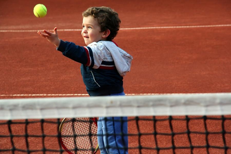 enfant tennis